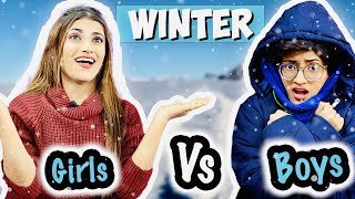 Winter : Girls Vs. Boys | SAMREEN ALI VLOGS