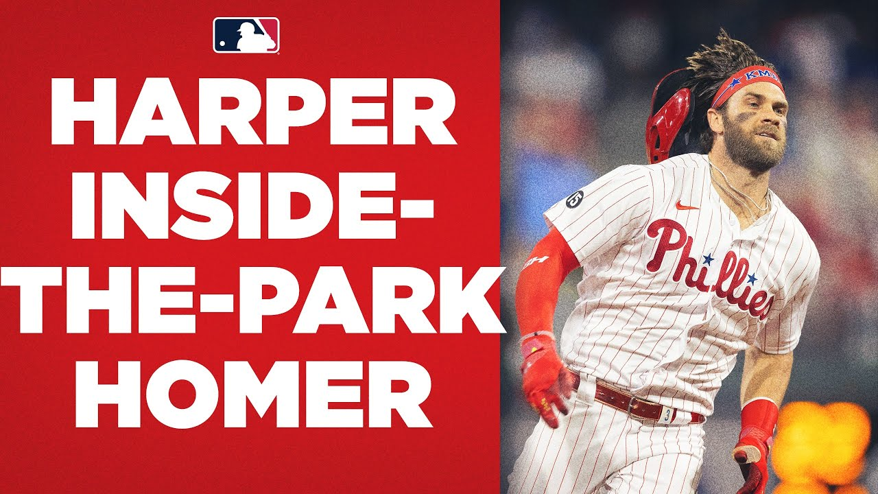 Download Bryce Harper FLIES around the bases for an inside-the-park home run!