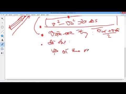 [LÝ 10 Nâng cao] Phần 1/4 Tổng ôn tập lý thuyết chương 1 Động học chất điểm và một số bài tập