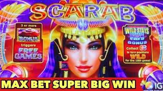 ⭐️GLAD I GO WITH 5 FREE GAMES🤔⭐️SCARAB SUPER BIG WIN | NEW SLOT Bai Shou Feng Xiang   Bonus Games