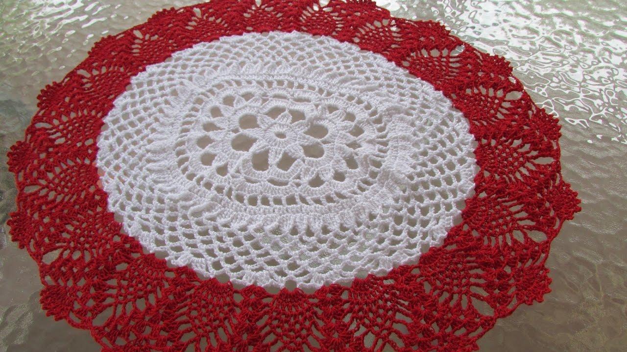 Centro de mesa carpeta a crochet modificada con nuevo for Centro de mesa a crochet
