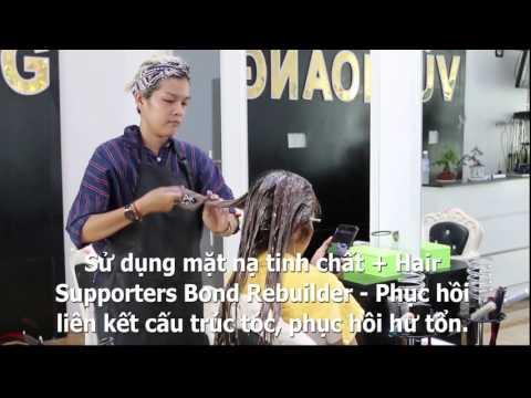 Trãi nghiệm Hair Supporters Bond Rebuilder - salon Vũ Hoàng