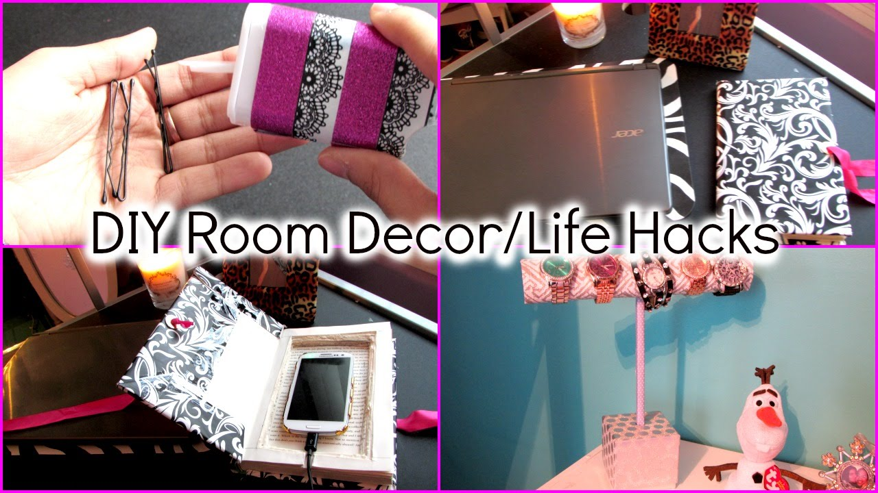 Diy room decor life hacks youtube for Room decor ideas step by step