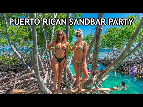 SAILING CARIBBEAN | FIRST TIME PUERTO RICAN SANDBAR BOAT PARTY