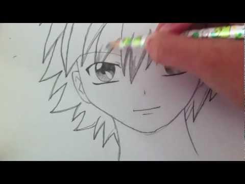 Drawing a Basic Manga Boy