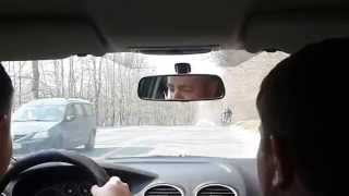 Уроки вождения по городу. Второй выезд (часть 1).