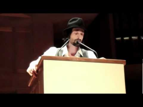 "Adrien Brody reads Biggie's ""The Ten Crack Commandments"" as poetry!"