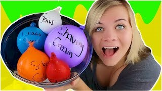 making slime with balloons slime balloon tutorial socassie