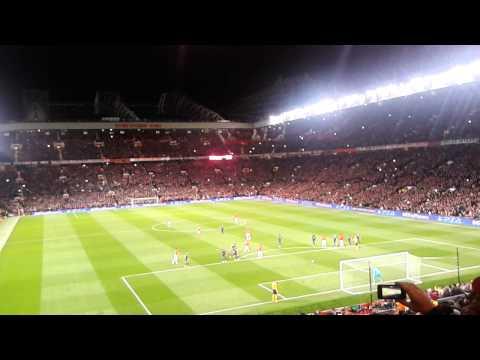 Van Persie penalty vs Olypiakos - behind the goal