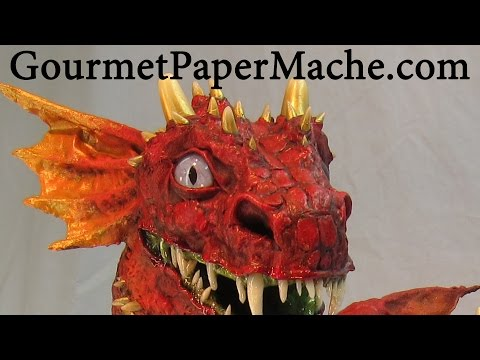 Baby Paper Mache Dragon