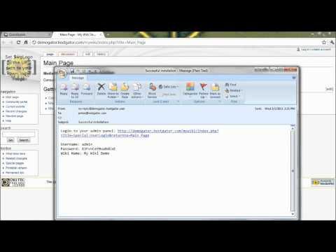 How To - MediaWiki Install Through QuickInstall At HostGator.com