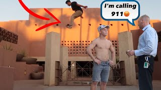 WE ALMOST GOT ARRESTED (PARKOUR VS SECURITY PT 2)