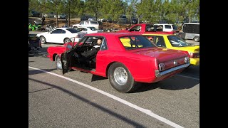 1965 prostreet mustang burn out and run at fayettville Nc dragstrip test n tune