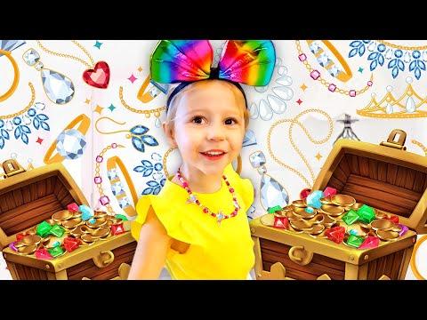 Nastya aprende a arte de fazer compras com o pai, Vídeo educativo para crianças - Видео онлайн