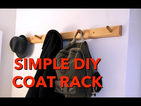 DIY Coat Rack—Simple One Day Build