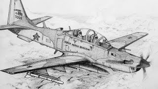 How to Draw an EMB-314 Super Tucano