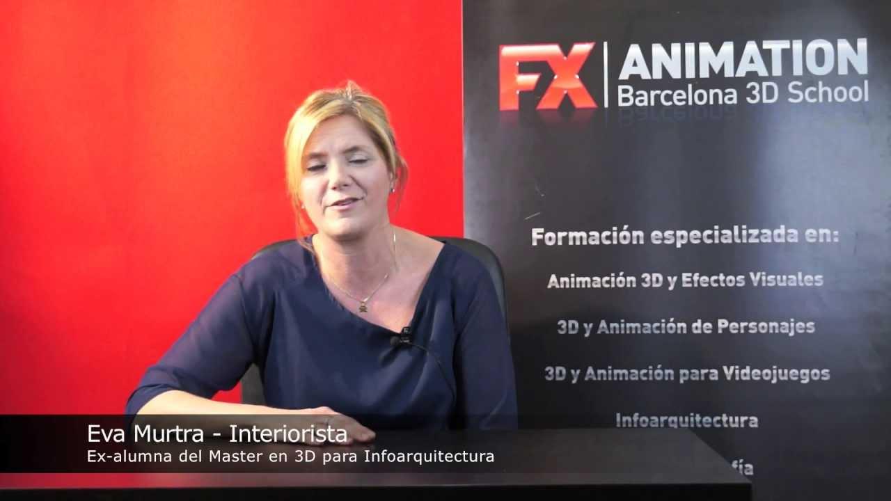 Eva murtra alumna del master en infoarquitectura e for Master interiorismo barcelona