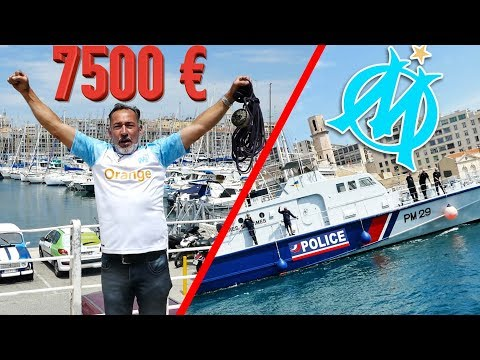MARSEILLE : 7500 EUROS RECORD DU MONDE DU VIEUX PORT BATTU CHRISDETEK PECHE A L'AIMANT BULLDOG #OM