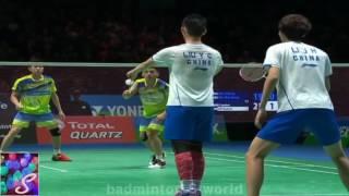 badminton 2017 羽毛球 バドミントン md qf goh tan vs li liu all england