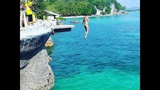 Cliff Jumping @ West Cove, Bor…