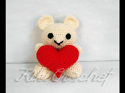 Crochet Valentineu0027s Day Teddy Bear (pt1/3)