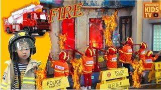 불이 났어요! 꼬마 소방관 출동하라! 한국잡월드 어린이체험관 소방관 직업체험 fire engine