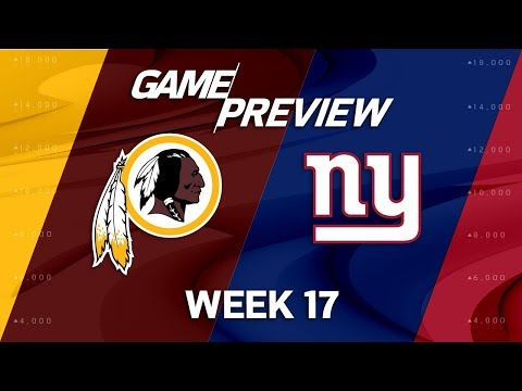 Washington Redskins vs. New York Giants | NFL Week 17 Game Preview | NFL