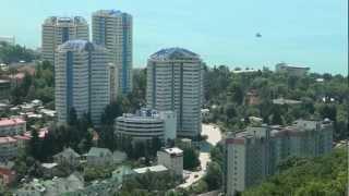Сочи. Sochi -город курорт.(Вид с обзорной площадки канатной дороги Сочинского Дендрария., 2012-07-01T14:39:43.000Z)