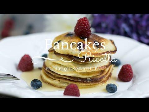 pancakes-à-la-ricotta-et-aux-myrtilles---yummycook