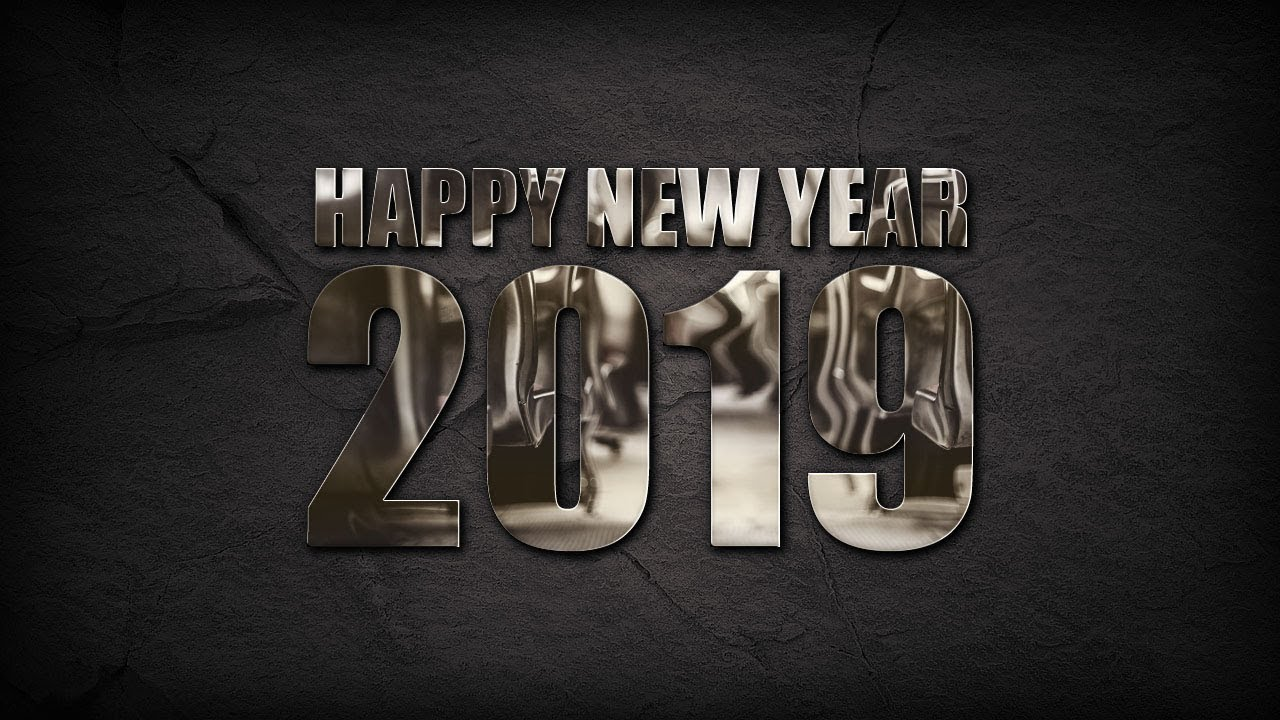 Photoshop Tutorial   How to Design New Year Greeting Card ...