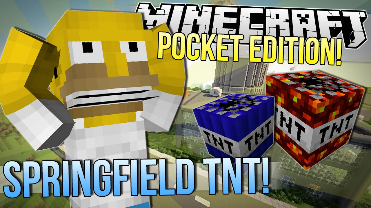 Minecraft Pocket Edition Blowing Up Springfield Too Much Tnt Mod Showcase Youtube