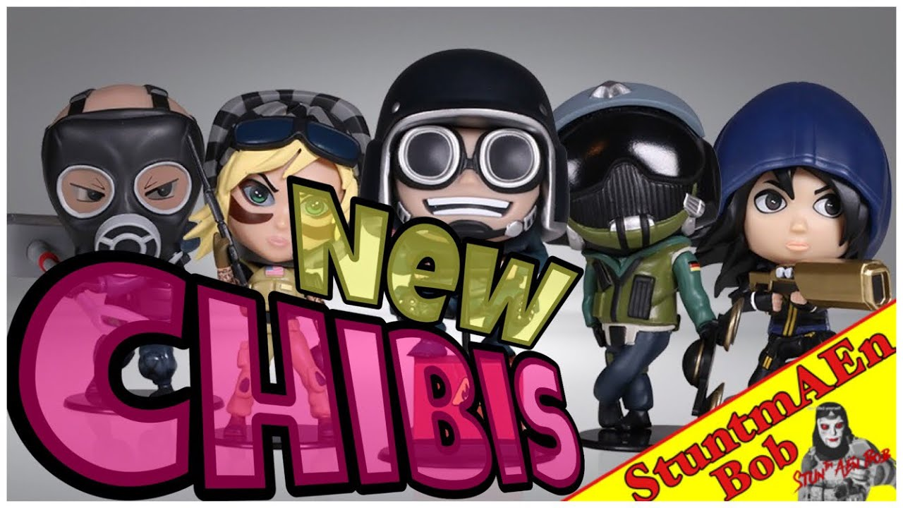 5 NEW OFFICIAL CHIBIS - SIX COLLECTION – SERIES 2 FIGURINES - Rainbow Six  Siege
