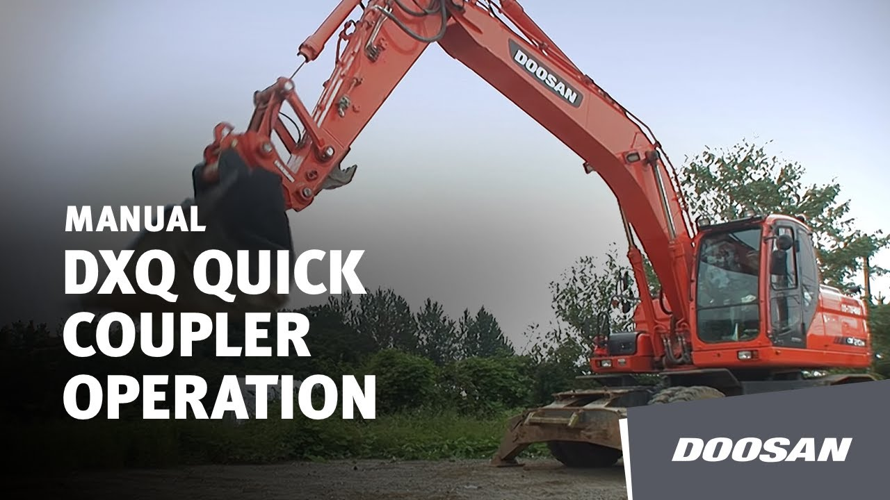 Doosan DXQ Quick Coupler Operation