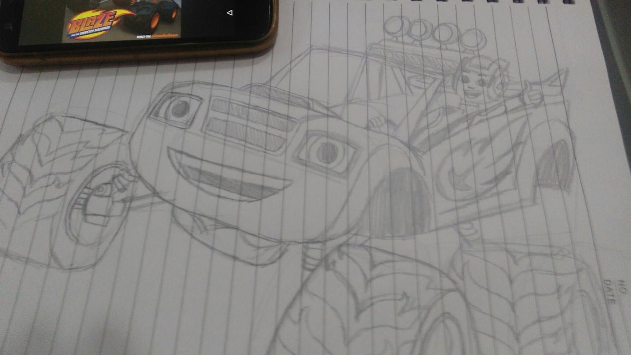 Como Desenhar O Blaze Monster Machines 2o Video Youtube