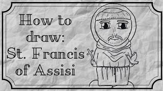 How to draw St. Francis of Assisi Catholic Saint step by step Easy