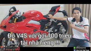 V4S Ducati với gói độ 100 triệu tại nhà riêng !!! Tony's Home + SH300I full trùm mền !!!