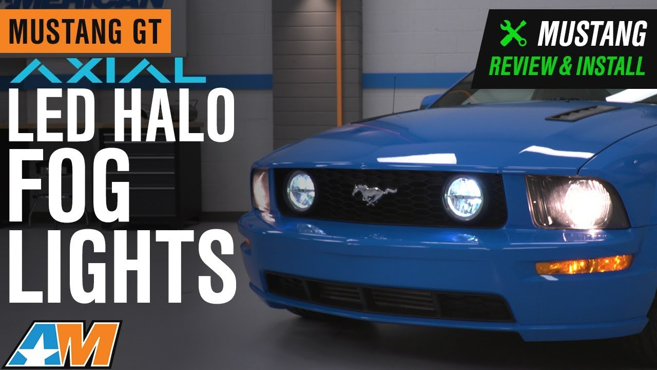 2005 2009 Mustang Gt Axial Led Halo Fog Lights Review Install Youtube