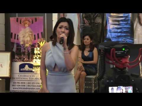 Angeline Quinto performs Kunin Mo Na Ang Lahat Sa Akin at the Divas Live in Manila PressCon