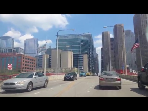 Chicago WEST SIDE Hood to Downtown Drive