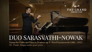 """Sonata in D minor, op 9 | iii. Finale Allegro molto, quasi presto"" - Karol Szymanowski"