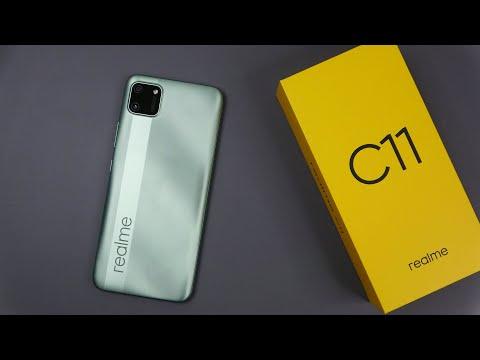 Realme C11 Mint Green color unboxing, camera, antutu, game test