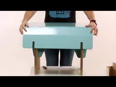 Видеозапись Детский стол из картона FUTUFU