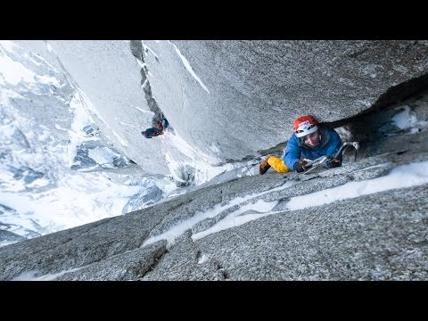 "Ueli Steck in Les Drus ""North Couloir Direct"" (VI, Al 6+, M8)"