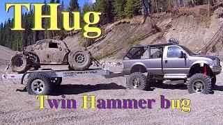 RC CWR Twin Hammer and Tamiya F-350 sand bash