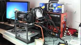 Case Labs Sm8 Water Cooled Build Log 3  - Bench Test Kit And Overclock I7-3770k On A Z77x-up7