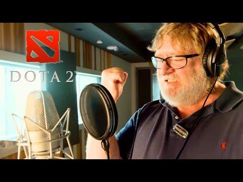 Dota 2 - Gabe Newell Mega-Kills Announcer Pack Trailer   Gamescom 2018