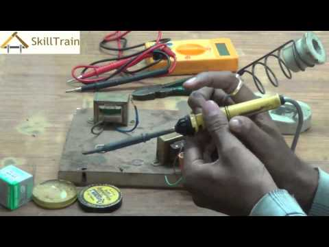 Soldering & making bridge rectifier (Hindi) (हिन्दी)