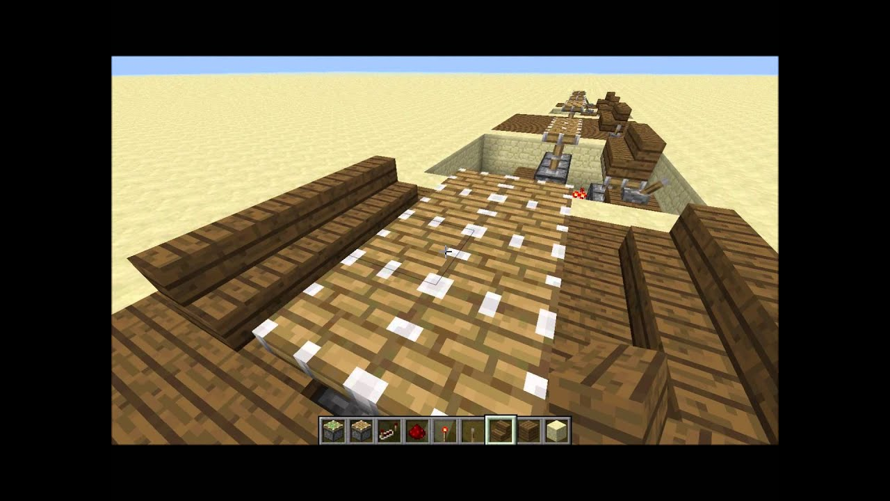 Minecraft tutorial how to build a redstone powered chair and table minecraft tutorial how to build a redstone powered chair and table set publicscrutiny Images