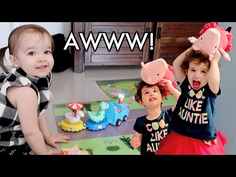 A Whole Lotta Cuteness + Playing With New Peppa Pig Toys! /// McHusbands