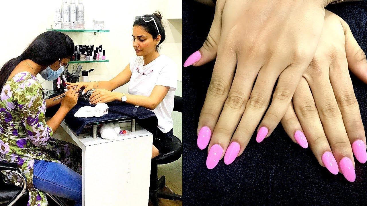 How To Do Nail Extensions Salon Style Simmy Goraya Youtube